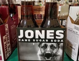 Who is the German Shepherd is on Jones Root Beer?