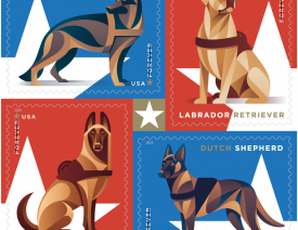 USPS German Shepherd Dog Stamps Coming in 2019